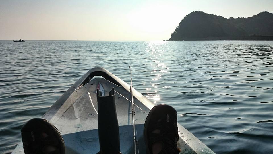 シーカヤックで釣り日和